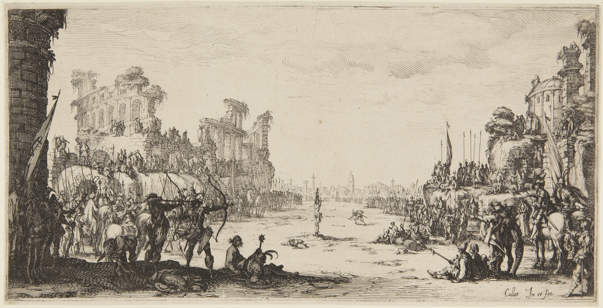 Jacques Callot, French, 1592–1635 Martyrdom of Saint Sebastian 1632–33