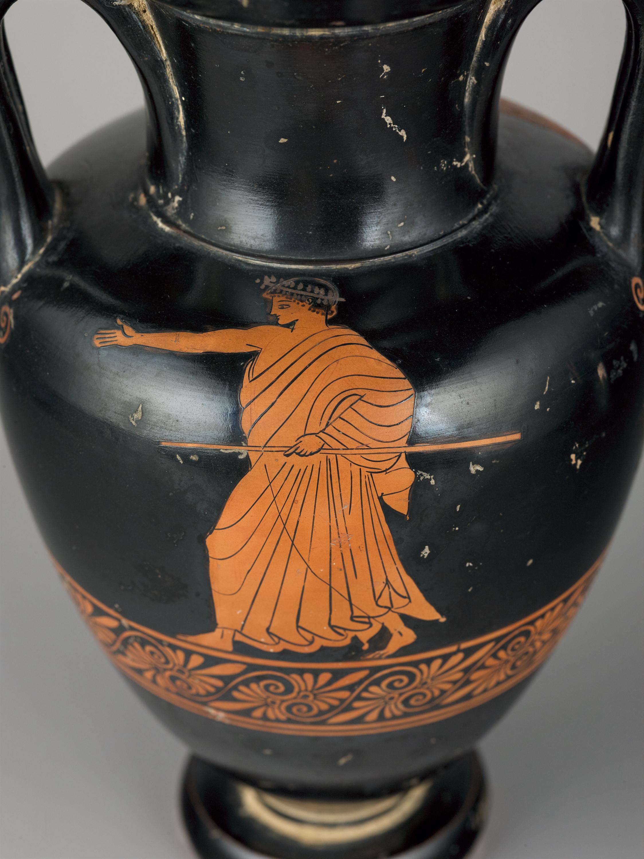 Greek, Attic: Red-figure Nolan Amphora, ca. 480–475 B.C. Ceramic. Museum purchase, Fowler McCormick, Class of 1921, Fund (2018-132)