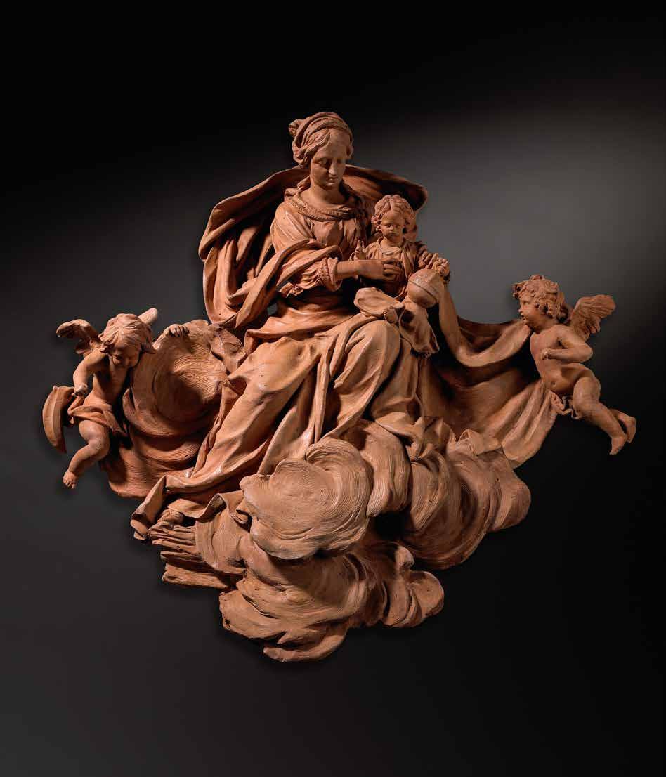 Terracotta sculpture of the Virgin and Child, made by Flemish artist Peter Scheemaeckers the Elder, between 1700 and 1702