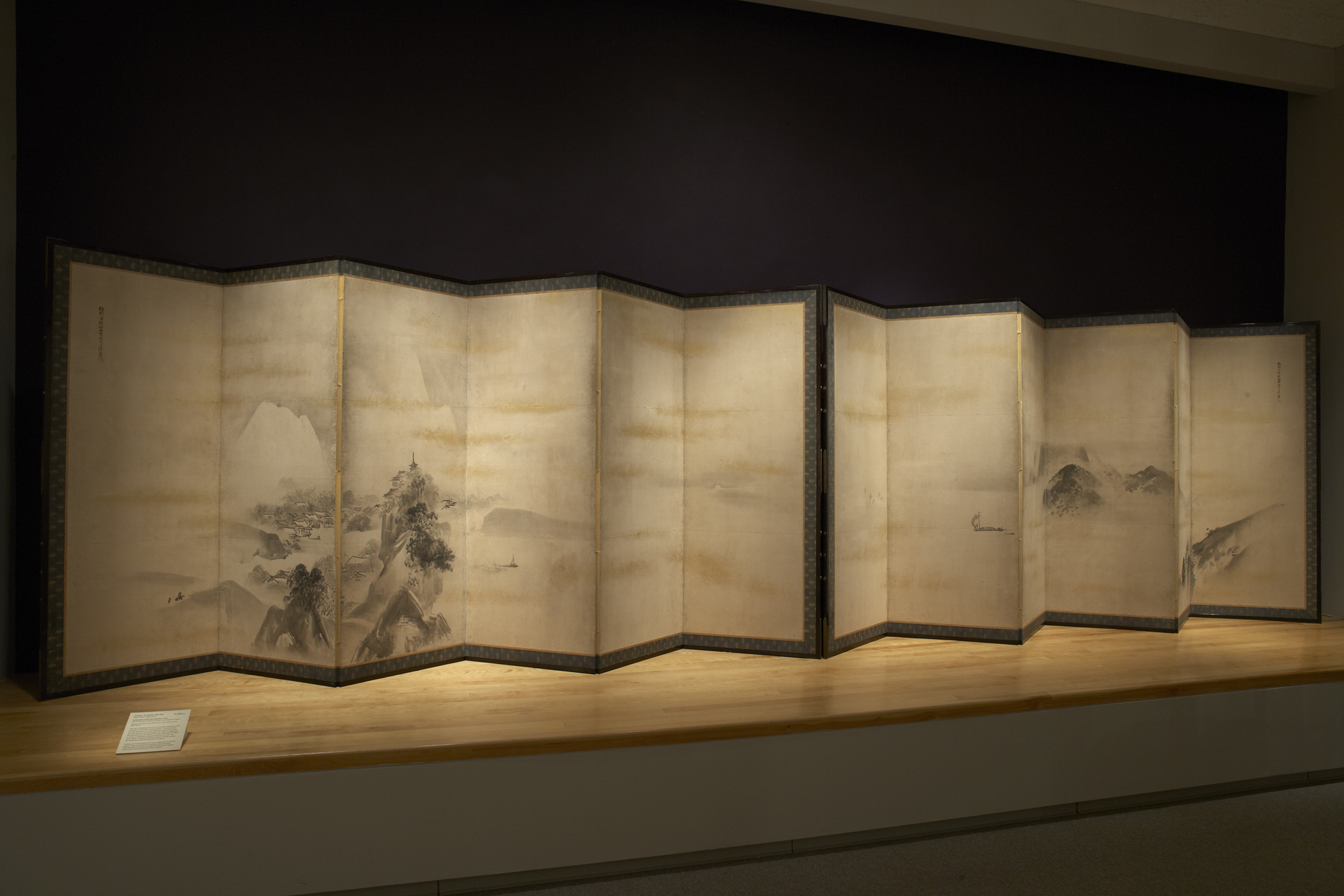 Japanese, Edo period, 1600–1868, Kano Tan'yū, 1602–1674: Landscapes of the Four Seasons, 1640s. (2012-79 a-b). Photo: Bruce M. White.