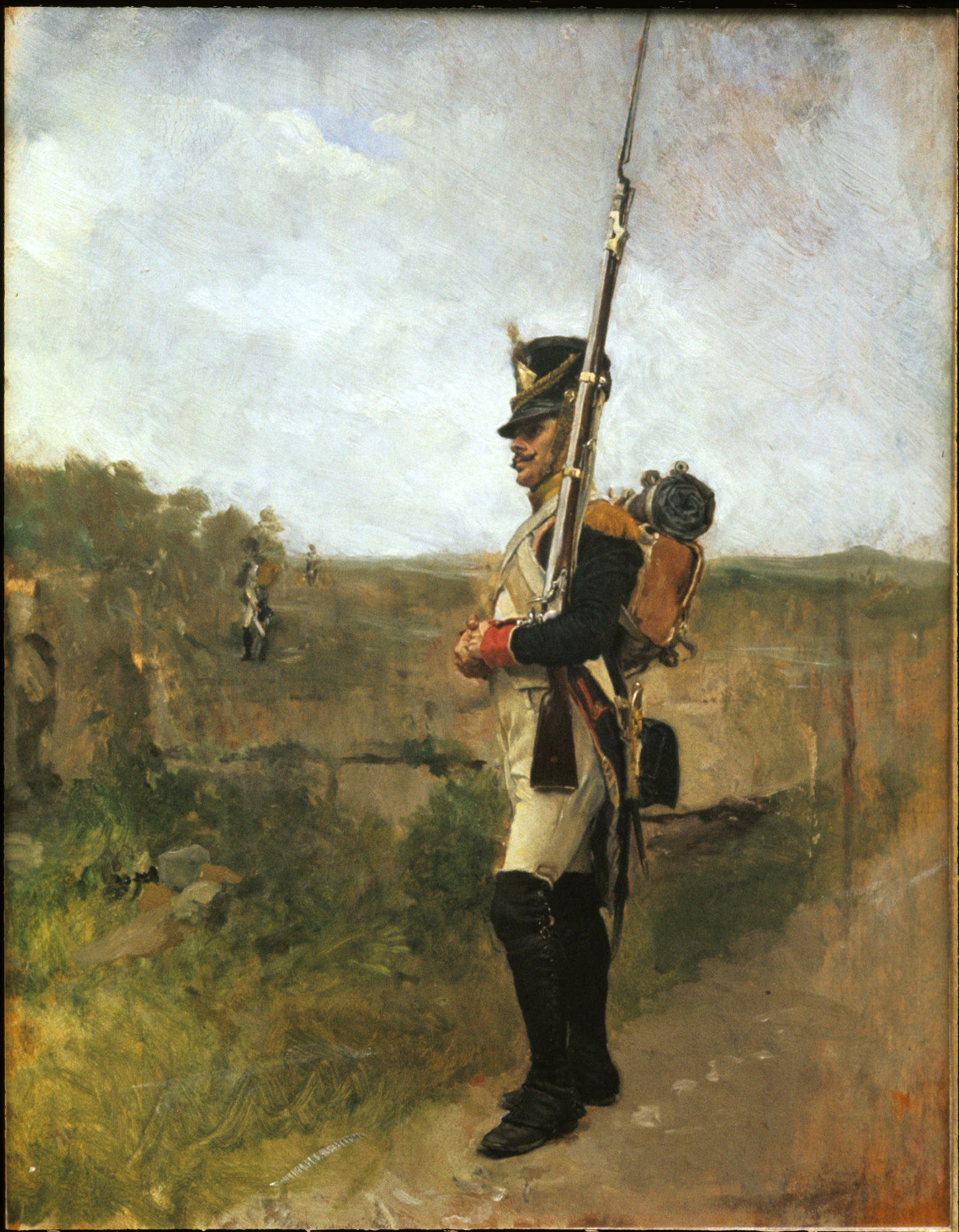 Jean Louis Ernest Meissonier, French, 1815-1891: The Sentry (La Vedette), 1890 (y1957-62). Photo: Bruce M. White.